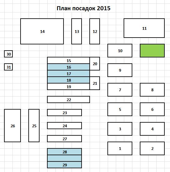 План посадок 2015